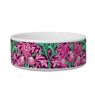 William Morris Irises, Fuchsia Pink and Wine Bowl