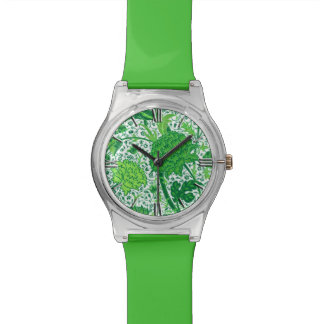 William Morris Jacobean Floral, Emerald Green Wrist Watches