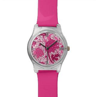 William Morris Jacobean Floral, Fuchsia Pink Watches