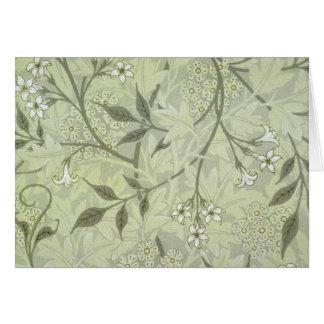 William Morris Jasmine Wallpaper Greeting Card