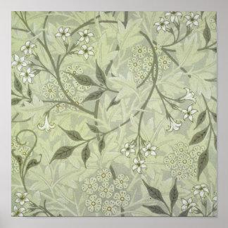 William Morris Jasmine Wallpaper Poster