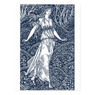 William Morris Lady Postcard