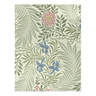William Morris Larkspur Floral Pattern Postcard