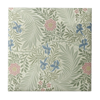 William Morris Larkspur Floral Pattern Tile