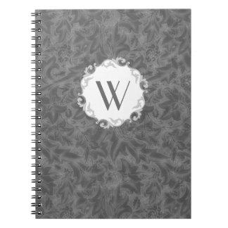 William Morris Lea Vintage Floral Monogram Spiral Notebook