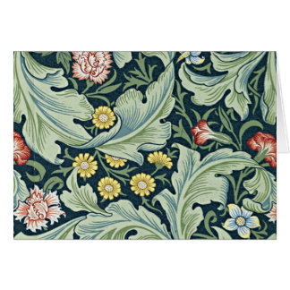 William Morris - Leicester vintage floral design Greeting Card