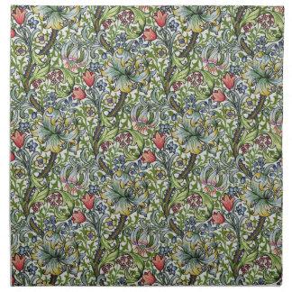 William Morris Lily Floral Chintz Pattern Napkins
