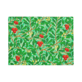 William Morris Lychee Tree Pattern, Light Green Doormat