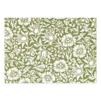 William Morris Mallow Green Pattern Pack Of Chubby Business Cards