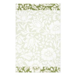 William Morris Mallow Green Pattern Stationery