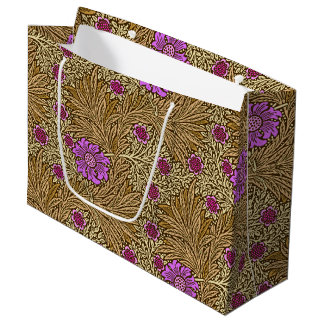 William Morris Marigold, Brown, Beige and Violet Large Gift Bag