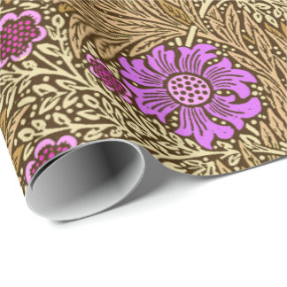 William Morris Marigold, Brown, Beige and Violet Wrapping Paper
