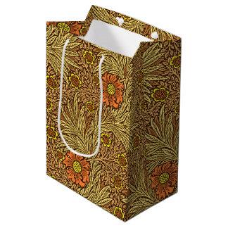 William Morris Marigold, Copper Brown and Orange Medium Gift Bag