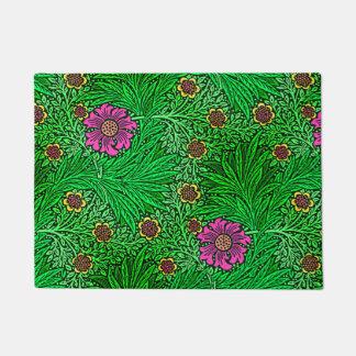 William Morris Marigold, Emerald Green & Fuchsia Doormat