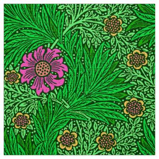 William Morris Marigold, Emerald Green & Fuchsia Fabric