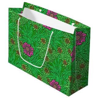 William Morris Marigold, Emerald Green & Fuchsia Large Gift Bag