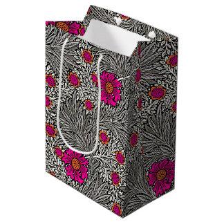 William Morris Marigold, Gray / Grey, and White Medium Gift Bag