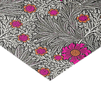 William Morris Marigold, Gray / Grey, and White Tissue Paper