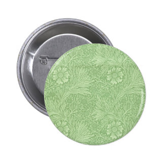 William Morris Marigold (Green) Pattern 6 Cm Round Badge