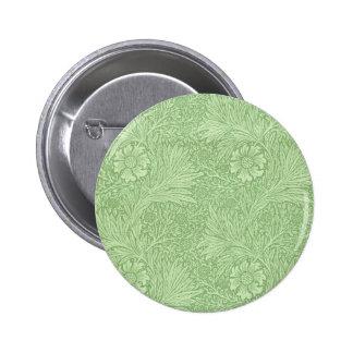 William Morris Marigold (Green) Pattern 6 Cm Round Badge