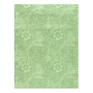 William Morris Marigold (Green) Postcard