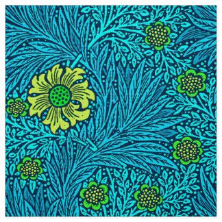 William Morris Marigold, Turquoise & Cobalt Blue Fabric