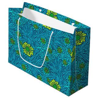 William Morris Marigold, Turquoise & Cobalt Blue Large Gift Bag