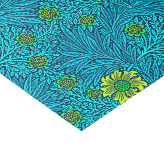 William Morris Marigold, Turquoise & Cobalt Blue Tissue Paper