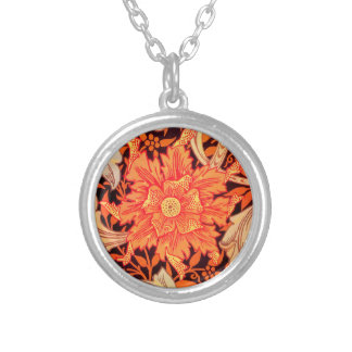 William Morris Marigold Vintage Floral Silver Plated Necklace