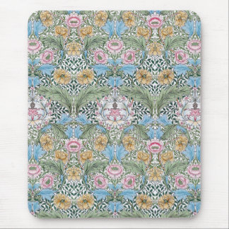 William Morris Myrtle Floral Chintz Pattern Mouse Pad