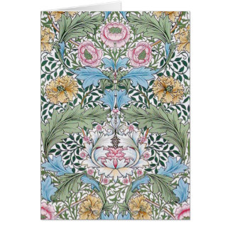 William Morris Myrtle Floral Pattern Note Cards