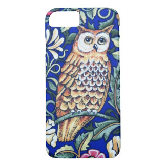 William Morris Owl Tapestry, Beige and Cobalt Blue iPhone 8/7 Case