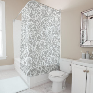 William Morris Pattern Custom Color Match Decor Shower Curtain