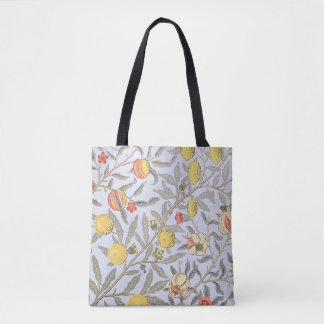 William Morris Pattern Fruits Peach Lemon Tote Bag