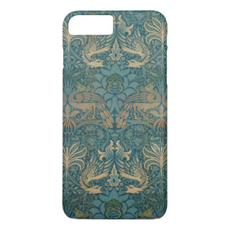William Morris Peacock and Dragon Textile Design iPhone 8 Plus/7 Plus Case