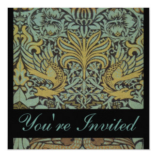 William Morris Peacock Wedding Invitations