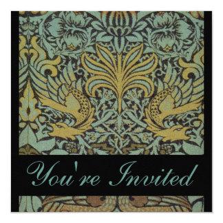 William Morris Peacock Wedding Invitations