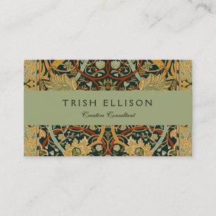 William Morris Persian Carpet Art Print Custom Business Card