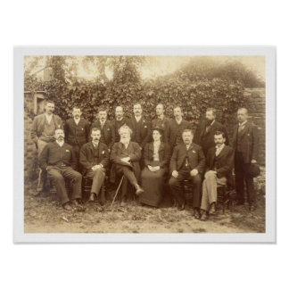 William Morris, photographed with the Staff at Kel Poster