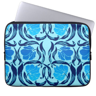 William Morris Pimpernel, Denim & Light Blue Computer Sleeve