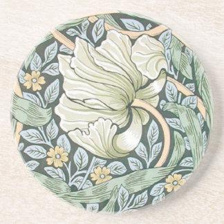 William Morris Pimpernel Floral Design Coasters