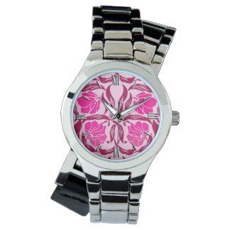 William Morris Pimpernel, Fuchsia & Light Pink Wristwatches