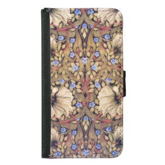 William Morris Pimpernel Vintage Floral Samsung Galaxy S5 Wallet Case