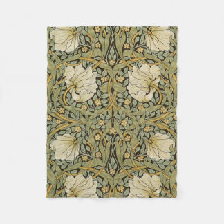 William Morris Pimpernel Vintage Pre-Raphaelite Fleece Blanket