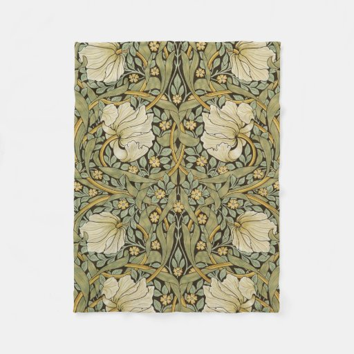 William Morris Pimpernel Vintage Pre-Raphaelite Fleece Blanket