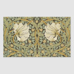 William Morris Pimpernel Vintage Pre-Raphaelite Rectangular Sticker