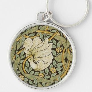 William Morris Pimpernel Vintage Pre-Raphaelite Silver-Colored Round Key Ring