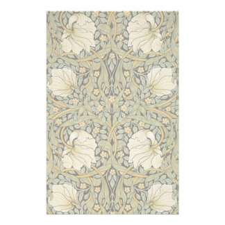 William Morris Pimpernel Vintage Pre-Raphaelite Stationery Design