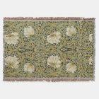 William Morris Pimpernel Vintage Pre-Raphaelite Throw Blanket