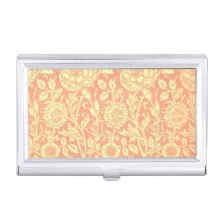 William Morris Pink and Rose Design Business Card Holder